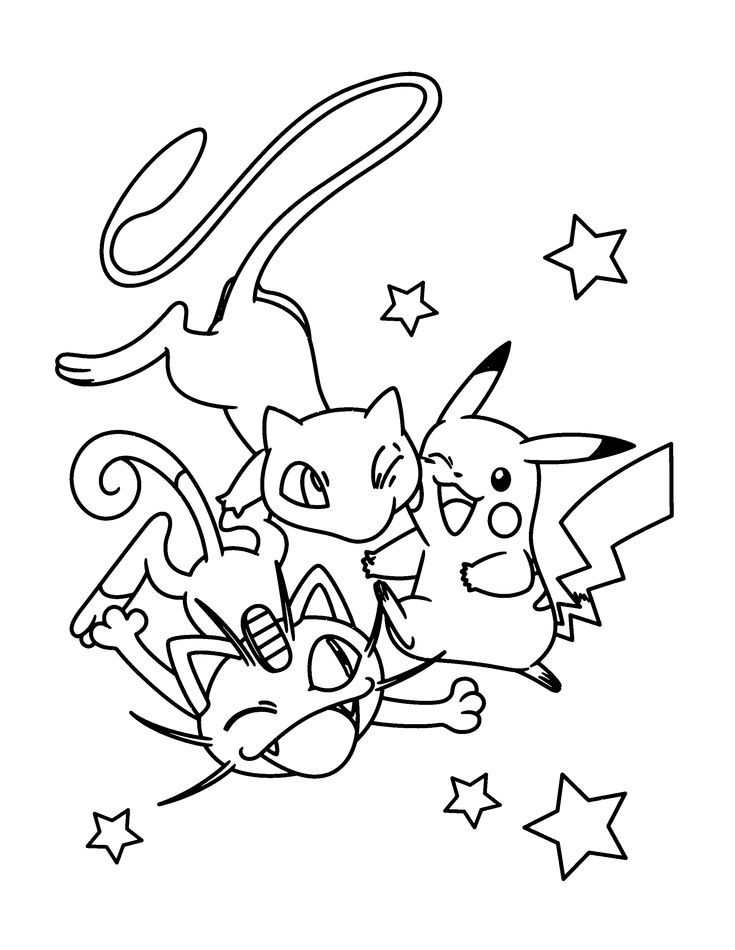 pokemon group coloring pages - photo#48