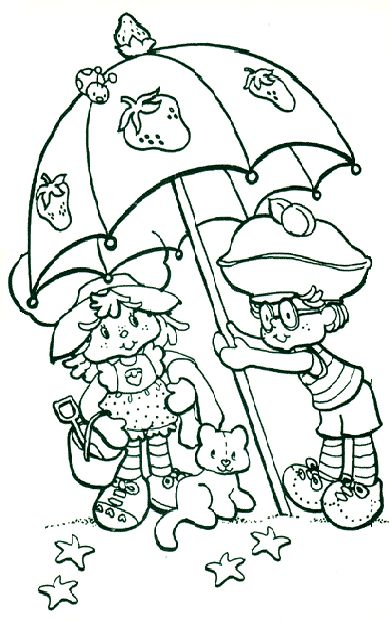 Strawberry Shortcake Coloring Pages Kids Printable Colouring Pictures
