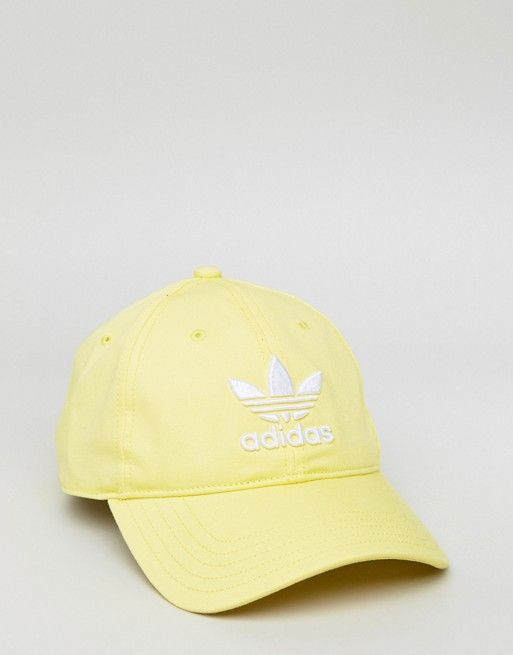 adidas Originals adicolor Trefoil Cap In Yellow CD6974