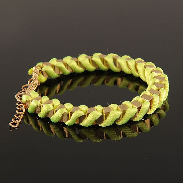 Yellow Twine  Gold  Bracelet  Jewelry