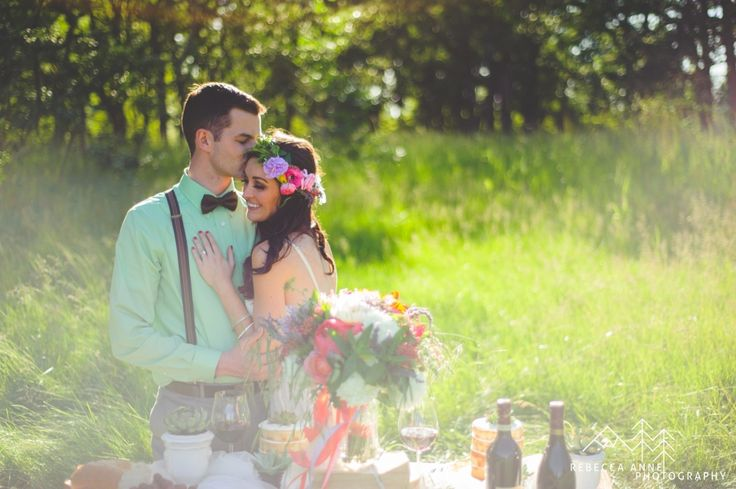 Bohemian Chic Hochzeitsfotos im Fort Steilacoom von Rebecca Anne Photography. #bo …   – Bohemian Chic Wedding Photos