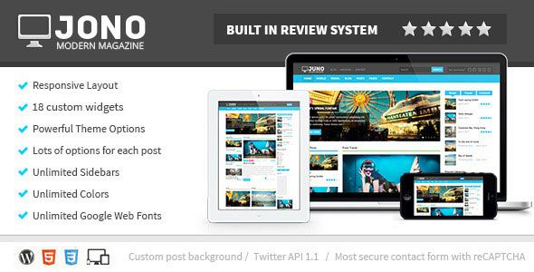 Clean elegant design and  fully responsive layout. The theme  is ideal for the magazine, news and  blog websites.
