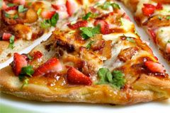 ... Strawberry Balsamic Pizza with Chicken, Sweet Onion & Applewood Bacon