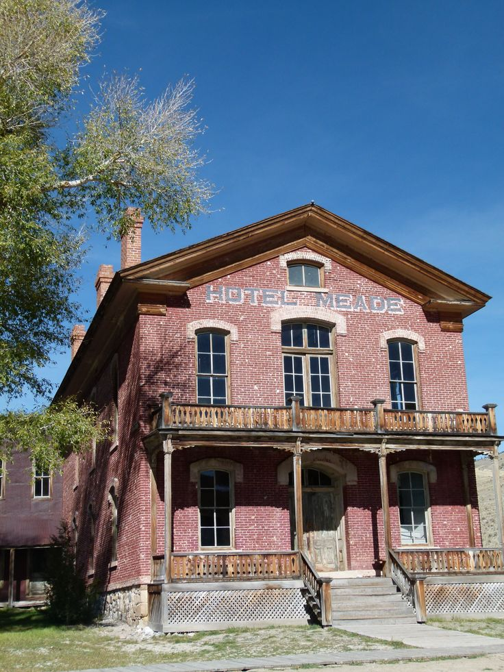 Bannack State Park near Dillon, Montana offers a look back at gold mining history.