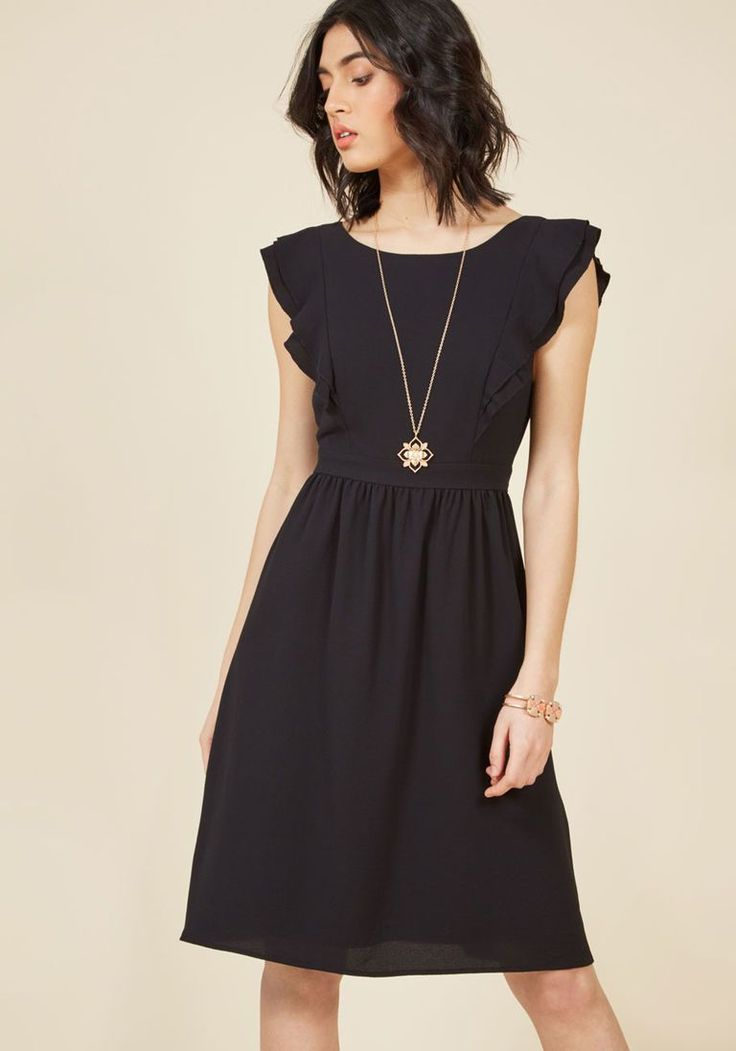 A Joy to Be Blissful A-Line Dress in Black