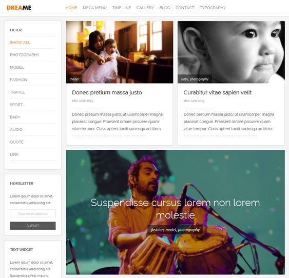 This masonry Joomla template features Bootstrap integration, a responsive layout, a mega menu, a drag and drop image gallery, Google Analytics support, a portfolio component, a clean design, and more.