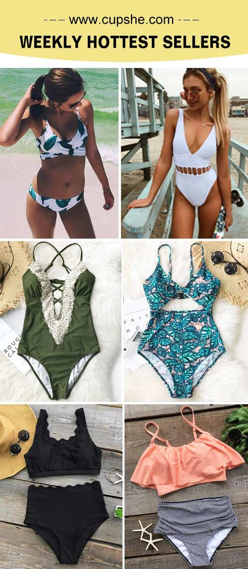 Hit the beach with weekly hottest selling bathing suits from Cupshe. Discover super-cute designs, perfect fits and a whole range of styles to take your beach days to the next level. Enjoy FREE shipping~