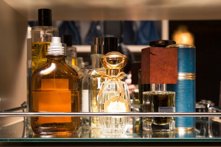 Inside Finery Founder Whitney Casey's Closet: When someone has as much energy and personality as Casey does, they usually have a wardrobe to match, which was exactly the case when we finally dug into the goods in her bedroom-sized-by-NYC-standards closet. -- Perfume collection  |  coveteur.com