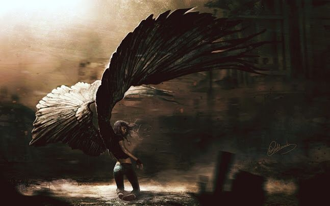 """""""If adversity brings you to your knees then spread your wings and wait for the winds of fate to lift you."""""""