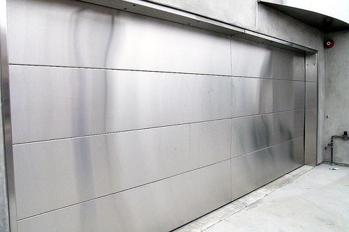 stainless steel garage doors