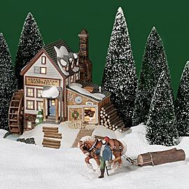 """Department 56: Products - """"Otter Creek Sawmill"""" - View Lighted Buildings"""