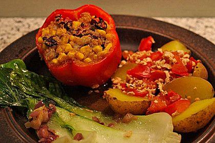 Paprika vegan gefüllt mit Amaranth (Rezept mit Bild) | Chefkoch.de