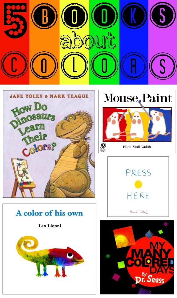 5 books about colors - Preschool Books About Colors