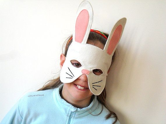 Kids Easter Bunny Rabbit  Mask Children Carnival Dress up Costume Accessory, Boys, Girls, Toddlers Pretend Play Toy via Etsy