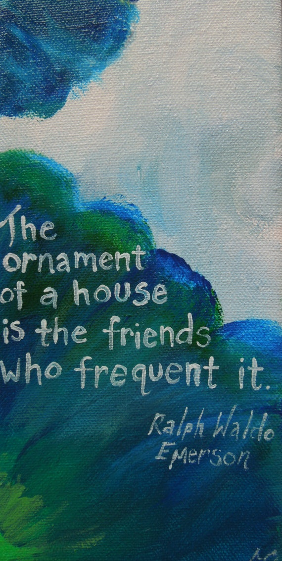 Housewarming Quote. Hostess Gift. Canvas quote sign Original painting Quote on wrapped by PaintedSea,