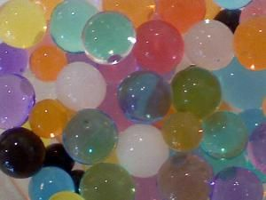 Polymer balls can be quite beautiful. - Anne Helmenstine