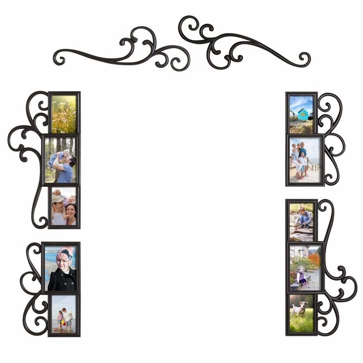 6 Piece Over Door X2f Mirror Scroll Photo Frame Collage Set Wall Art Home Decor Home Framed Photo Collage Wall Hanging Photo Frames Collage Picture Frames