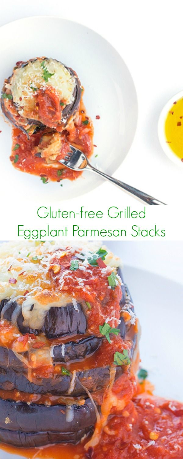 Gluten Free Grilled Eggplant Parmesan Stacks Recipe - The ultimate vegetarian comfort food and a perfect dinner for everyone! - The Lemon Bowl