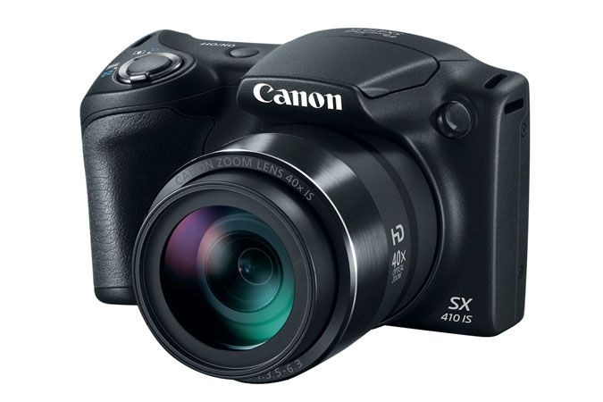 Canon PowerShot SX410 20MP 40x Zoom Bridge Camera - Black.