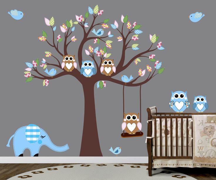 Rengarenk Ağaç Bebek Ve Çocuk Odası Duvar Sticker Fiyat: 184 TL