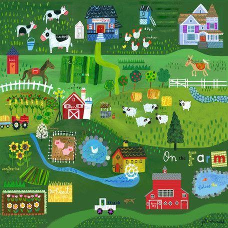 On the Farm Canvas Art