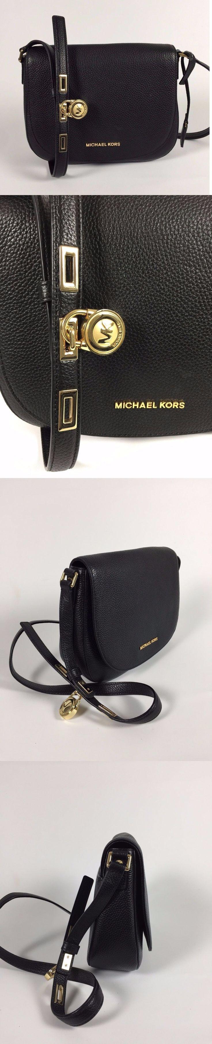 Women Handbags and Purses: Nwt Michael Kors Black Leather Large Hamilton Crossbody Messenger Bag New -> BUY IT NOW ONLY: $199 on eBay!