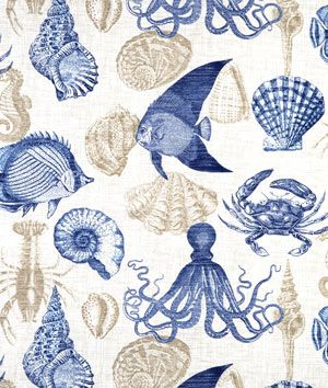 Richloom Outdoor Sea Life Marine Fabric - $8.95 | onlinefabricstore.net