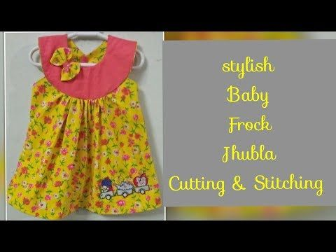 4b4f7b616 Stylish Baby Cotton Jhabla frock Cutting   Stitching Easy To make At ...