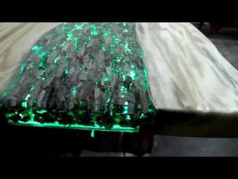 treasure table beautifull artistic table made with wood resin and leds youtube how. Black Bedroom Furniture Sets. Home Design Ideas