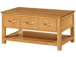 Newark Oak 3 Drawer Coffee Table http://solidwoodfurniture.co/product-details-oak-furnitures-3487-newark-oak-drawer-coffee-table.html