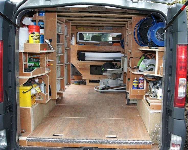 Awesomeness on how to outfit your work van.. maximize storage and space.