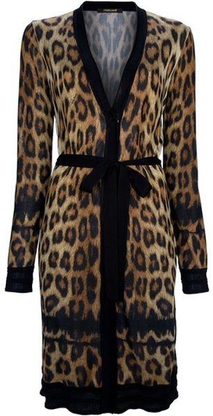CAVALLI Leopard Print Dress - Lyst