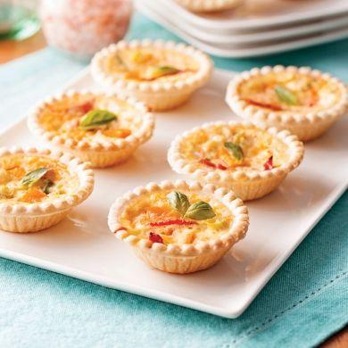 Mini-quiches sans gluten aux tomates séchées et cheddar fort - Recettes - Cuisine et nutrition - Pratico Pratique