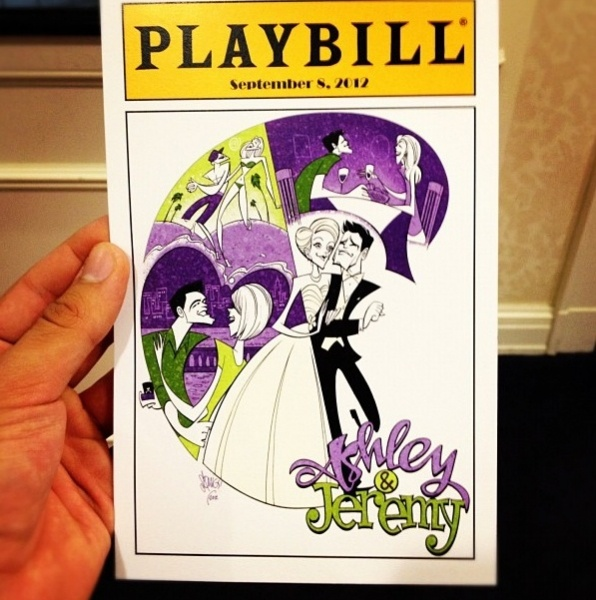 PLAYBILLS will be the programs at my wedding.    Photo Flash: Jeremy Jordan and Ashley Spencer Tie the Knot!