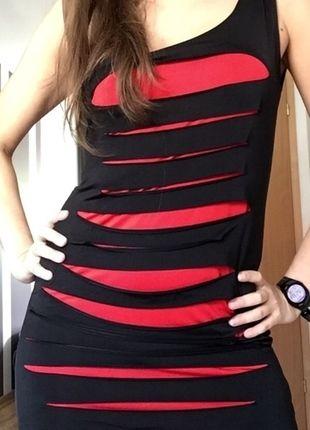 Kup mój przedmiot na #vintedpl http://www.vinted.pl/damska-odziez/krotkie-sukienki/9651216-czerwono-czarna-sukienka-na-impreze-36
