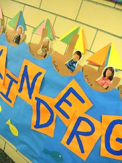 cute summer summer display. Students make a boat out of construction paper. Glue their photo into the boat.: Bullentin Boards, Classroom Decor, Schools Ideas, Bulletin Boards, Display Boards, Classroom Ideas, Kindergarten Blog, Boards Display, Construction Paper