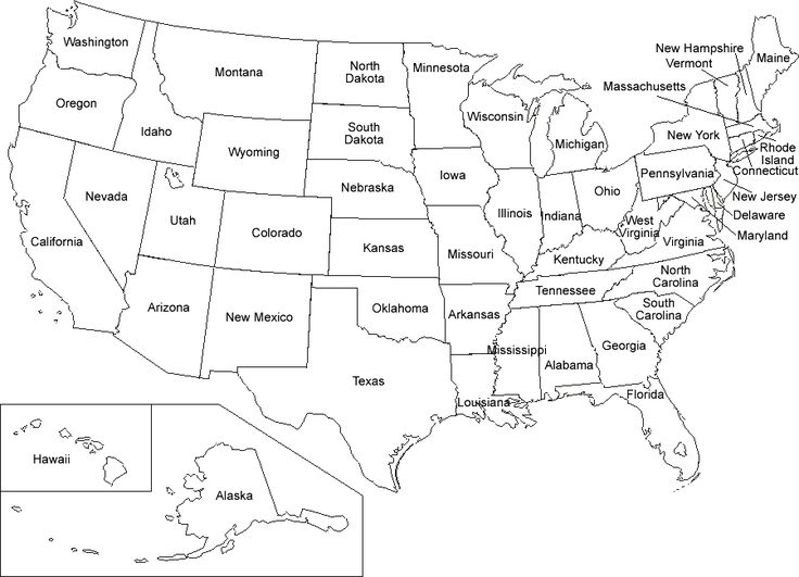 US Map Coloring Pages | Educational Coloring Pages | Printable maps ...