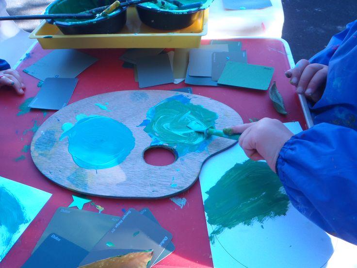 Exploring shades of green outdoors
