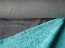 Kuschel-Sweatshirt uni grau-türkis
