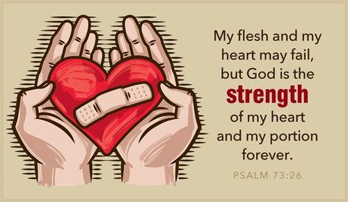 Psalm 73:26 - Heart May Fail
