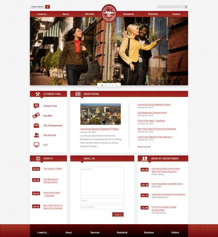 City of Lynchburg Website Design