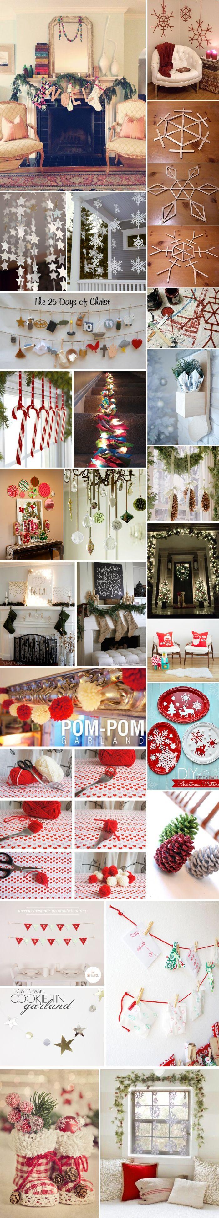 As mais lindas ideias criativas de enfeites de Natal 2015 e decoração natalina sem gastar muito! Decore sua casa para o Natal!