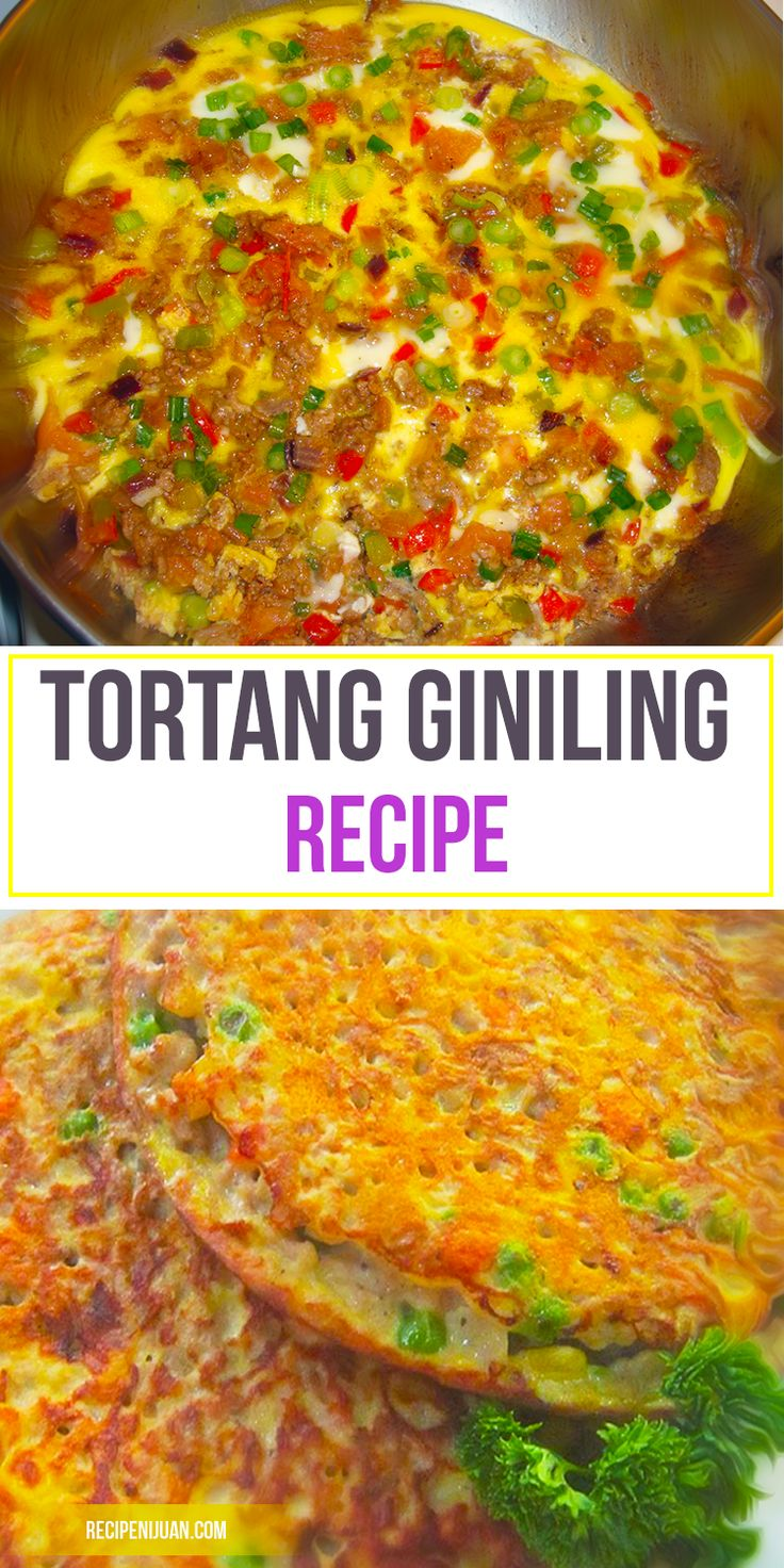 Tortang Giniling is a recipe that makes good use of simple but nutritious ingredients. It has been written that torta giniling or ginisang giniling as what some Filipinos fondly call this dish is another Spanish influenced meal. There are some old folklore stories tells that the left-over pork / pigs meat are mixed together and then finely minced in food processor or meat grinder.
