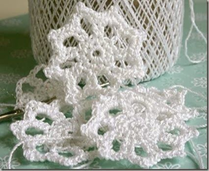 Quiltville's Quips & Snips!!: Crochet a Snowflake Spool-pin Doily!