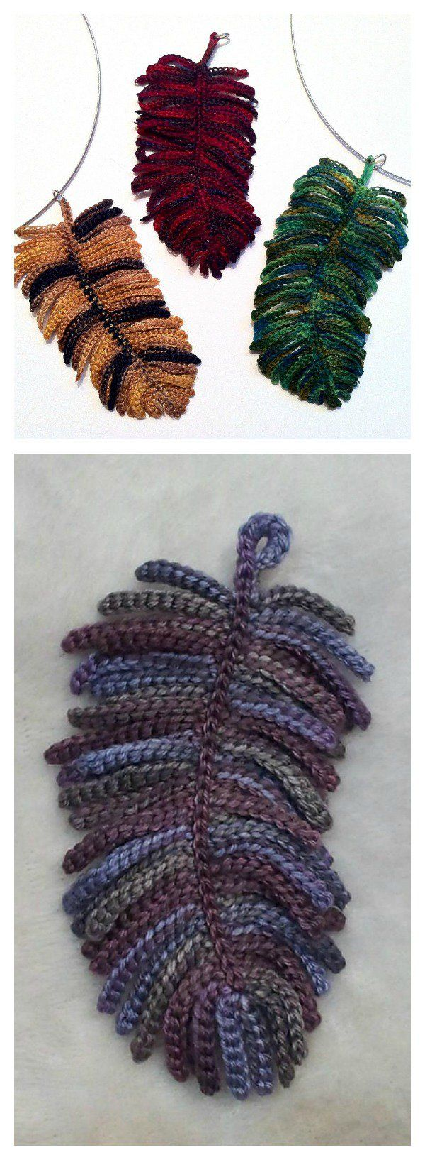 Crocheted Feather Necklace Free Pattern