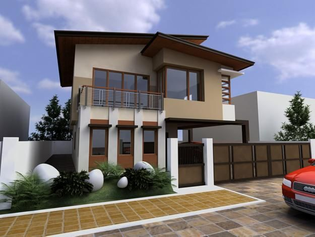 small modern asian house exterior designs | architecture
