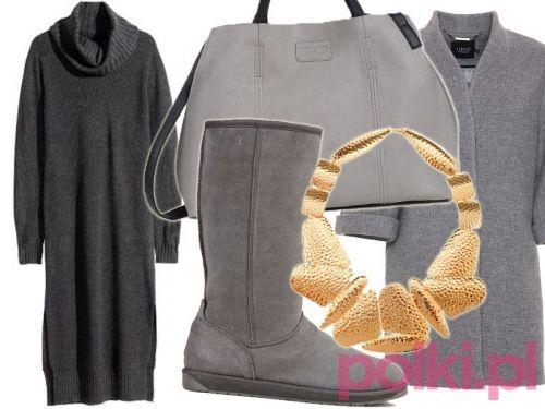 Stylizacja z dzianinową sukienką - #4 #polkipl #stylizacje