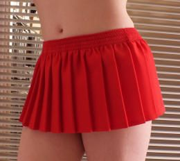 10 inch Red Knife Pleated mini skirt £8.99 Fully box pleated all ...
