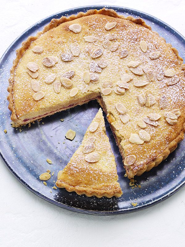 Create a classic British bakewell tart with step-by-step help. Try this recipe with other seasonal fruits such as strawberries or cherries, if you like.