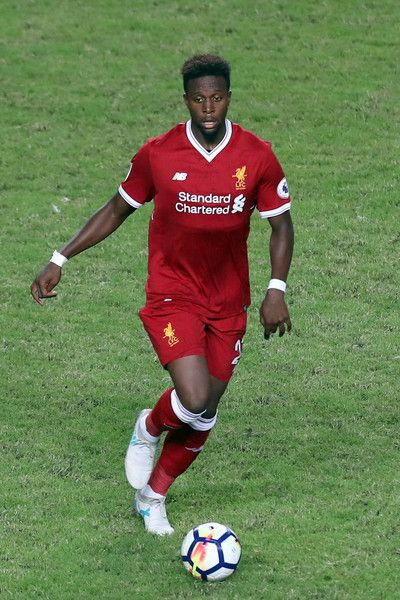 Divock Origi of Liverpool in action during the Premier League Asia Trophy match between Liverpool FC and Leicester City FC at Hong Kong Stadium on July 22, 2017 in Hong Kong, Hong Kong.